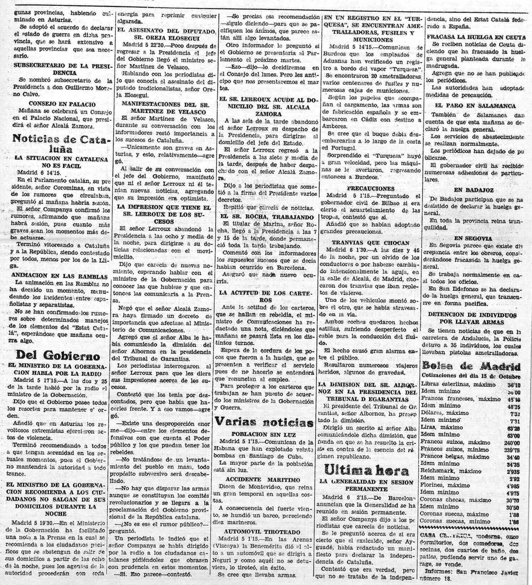 La Gaceta de Tenerife, 6 de octubre de 1934.