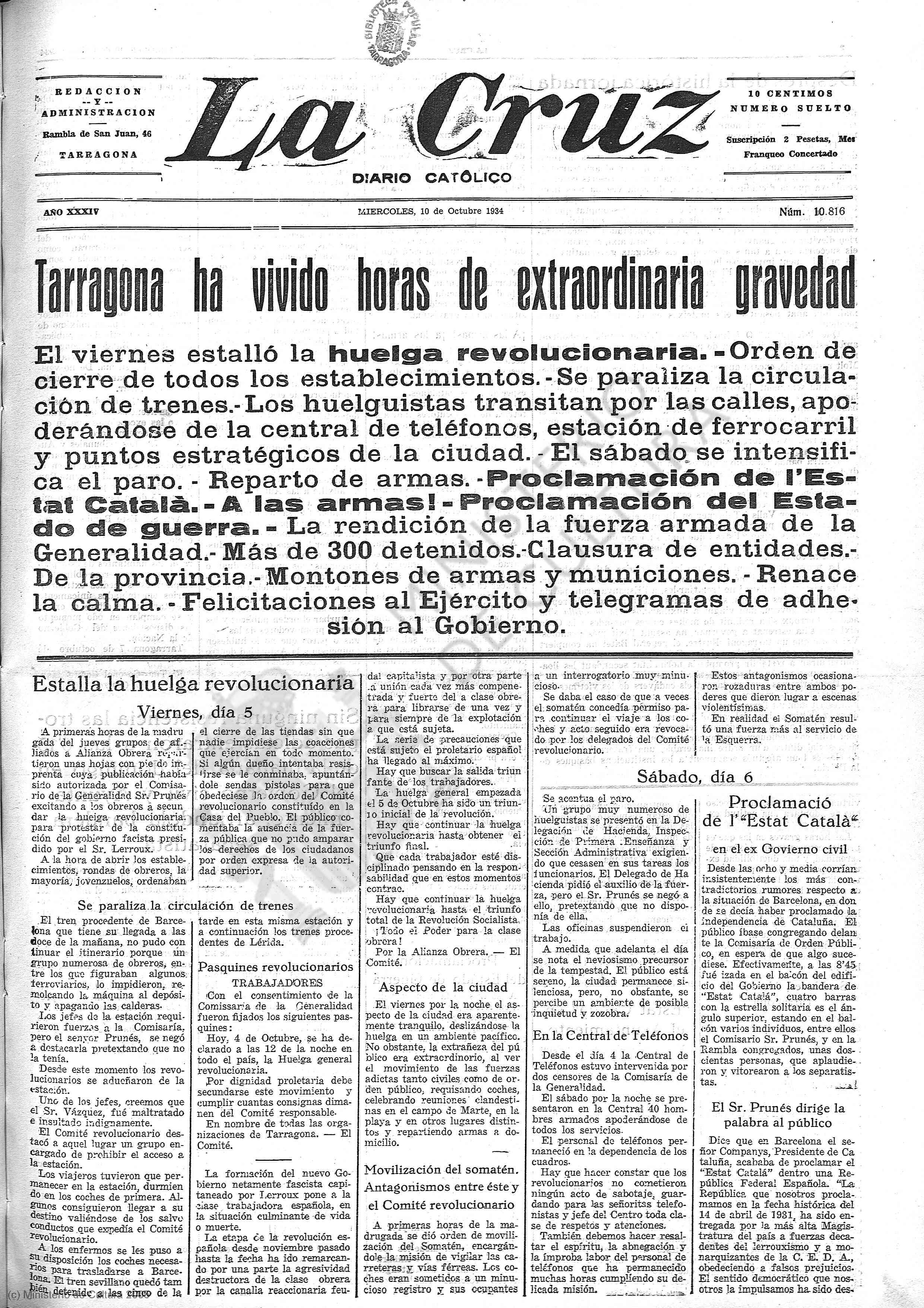 La Cruz, 10 de octubre de 1934.