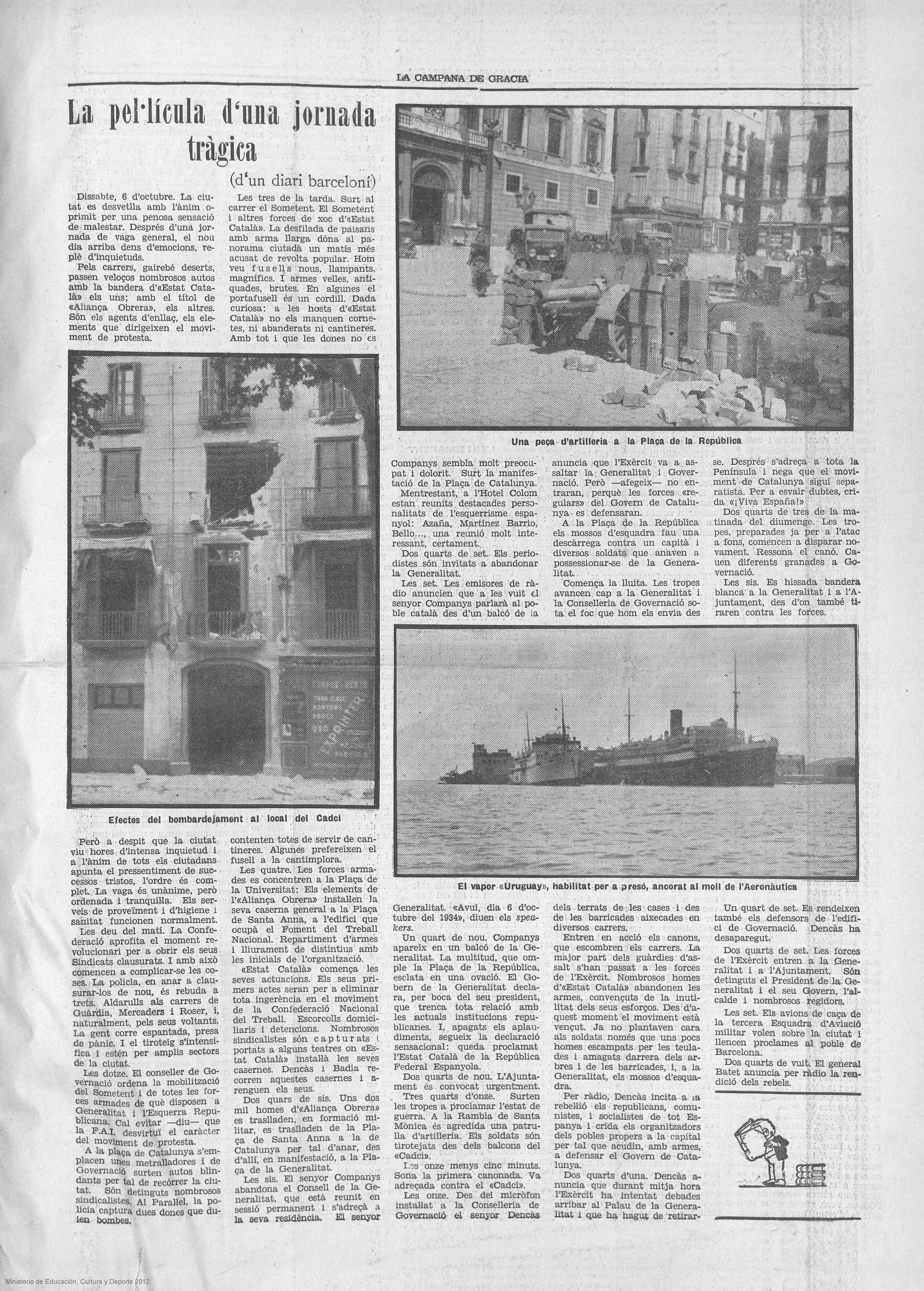 Campana de Gracia, 12 de octubre de 1934, p. 5.