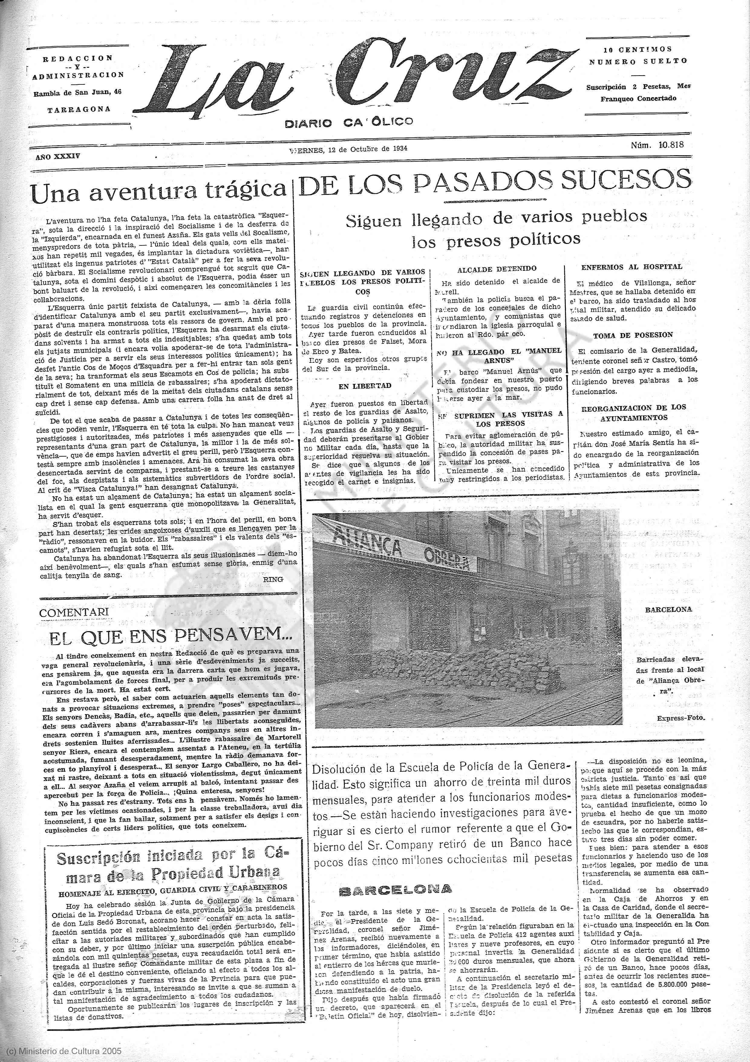 La Cruz, 12 de octubre de 1934.