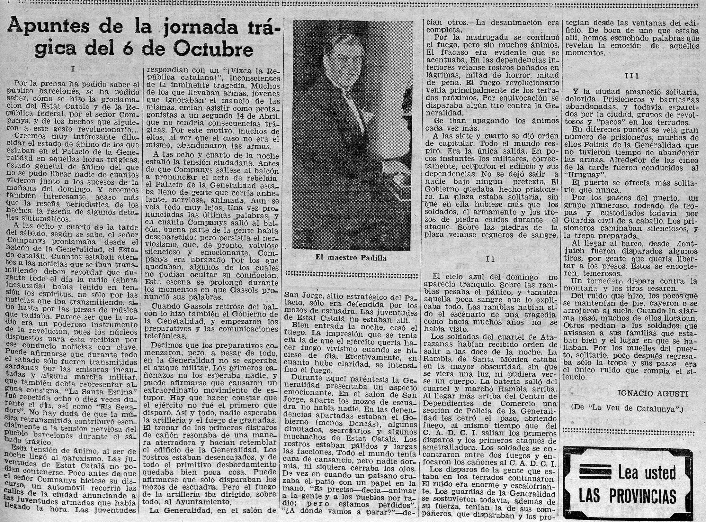 Las Provincias, 12 de octubre de 1934, p. 5.