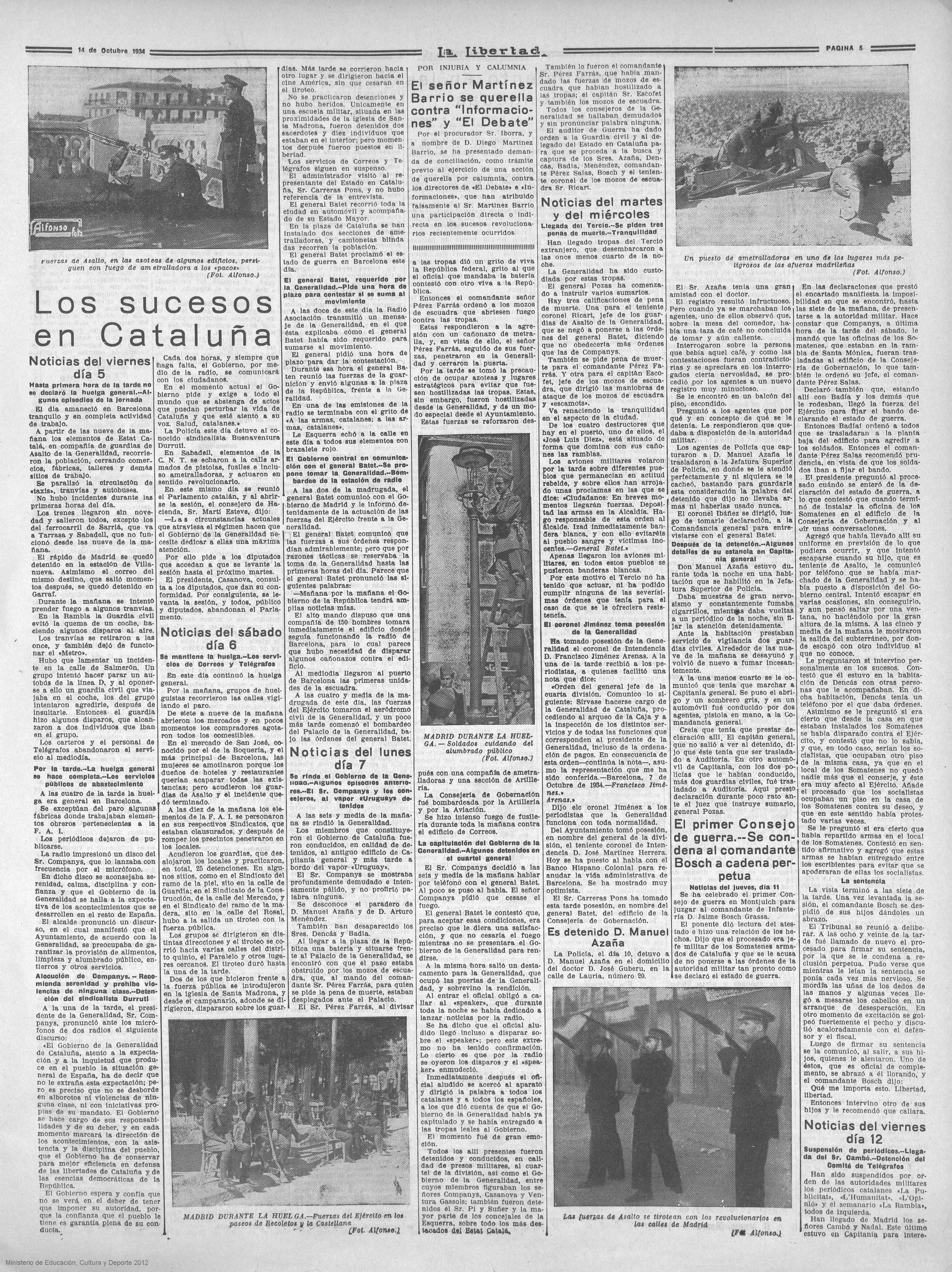 La Libertad, 14 de octubre de 1934, p. 5.