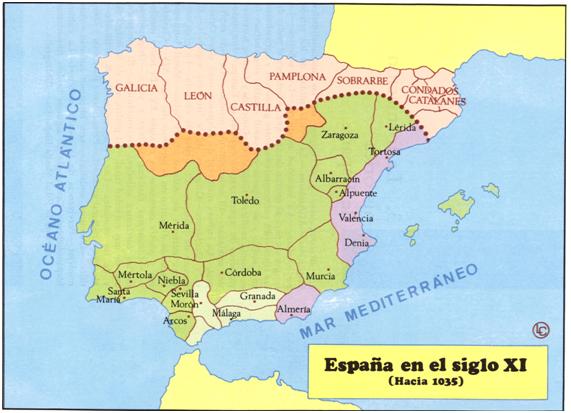 España hacia 1035.