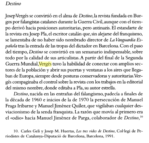 P. 149 del libro Jordi Pujol: en nombre de Cataluña, de Félix Martínez y Jordi Oliveres, publicado por Random House Mondadori en 2005 (446 páginas).