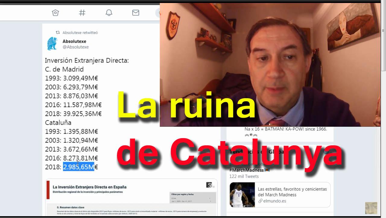 La ruina de Cataluña, en un tuit y en un vídeo.